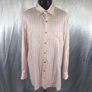 Ermenegildo Zegna mens striped dress shirt